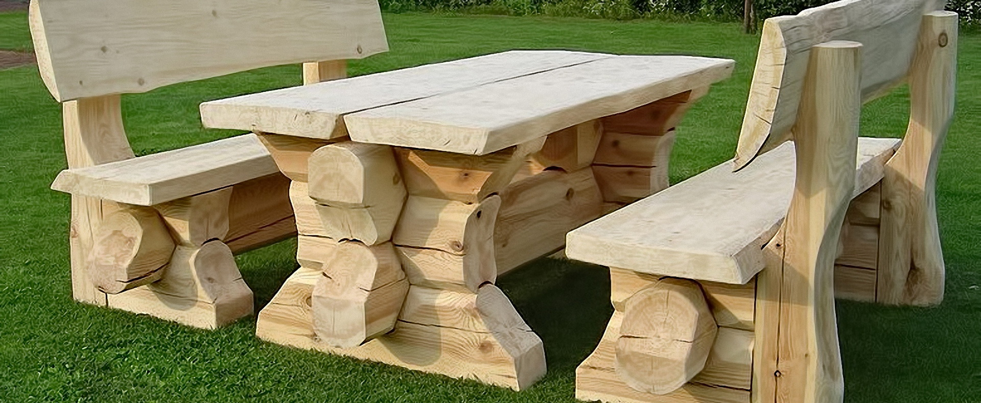 GARDEN FURNITURE   ROUNDWOOD AND SOLID WOOD